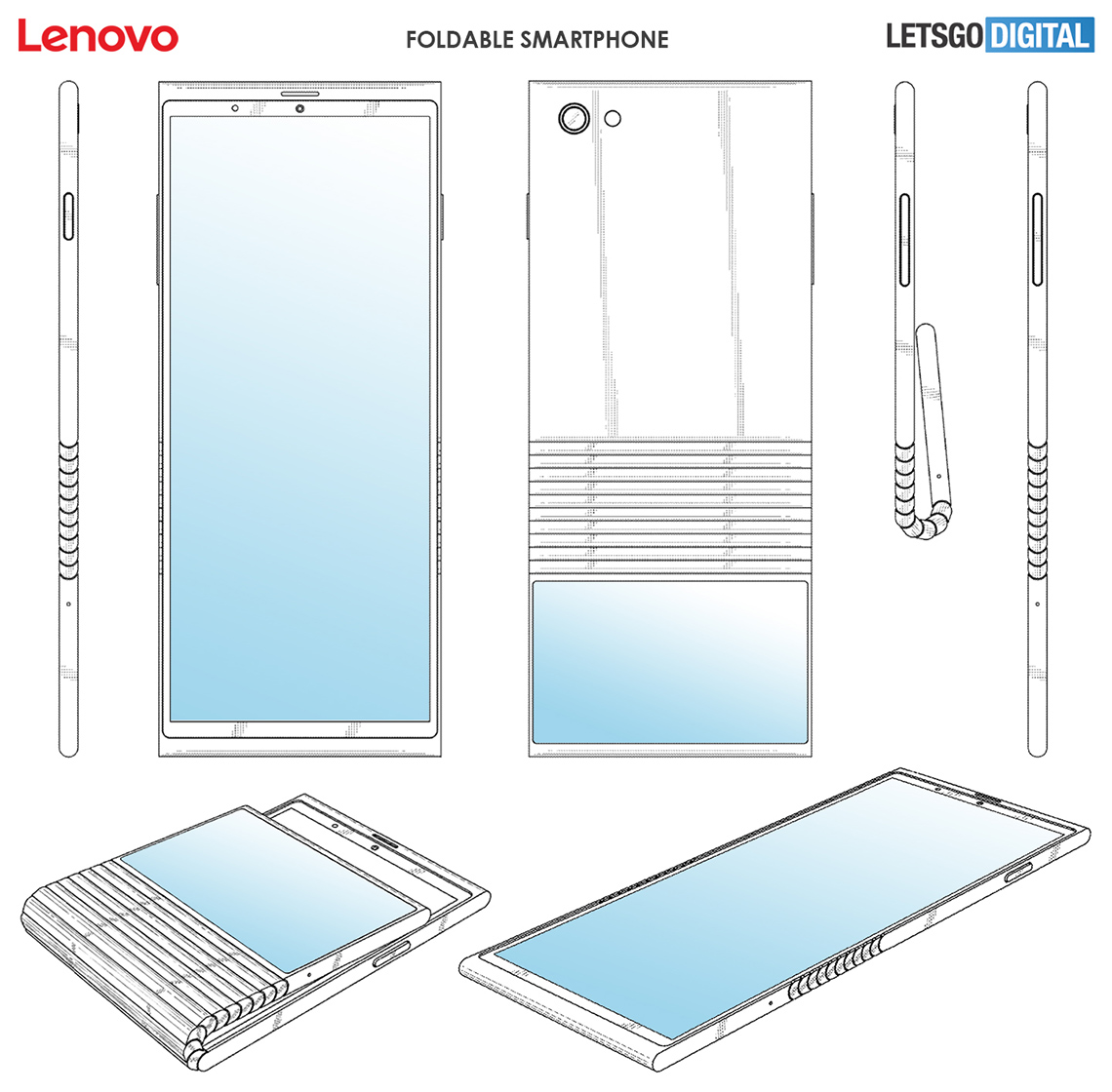 Lenovo patents a foldable smartphone design that folds on the back