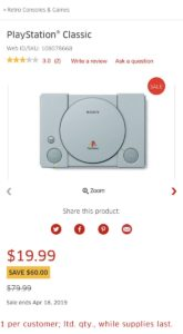 PlayStation Classic now as low as $29 99 in Canada [Update]