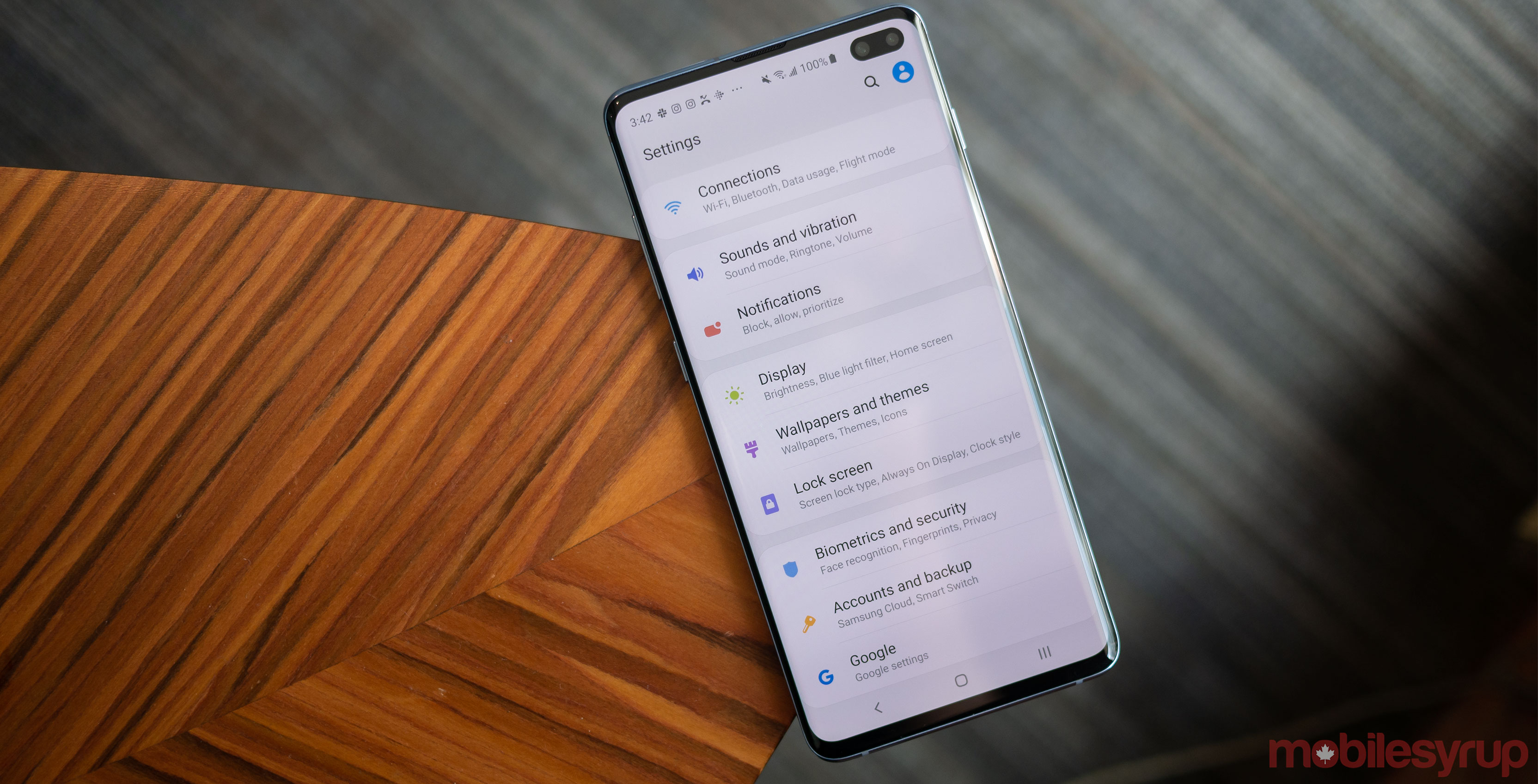 Samsung Galaxy S10 settings