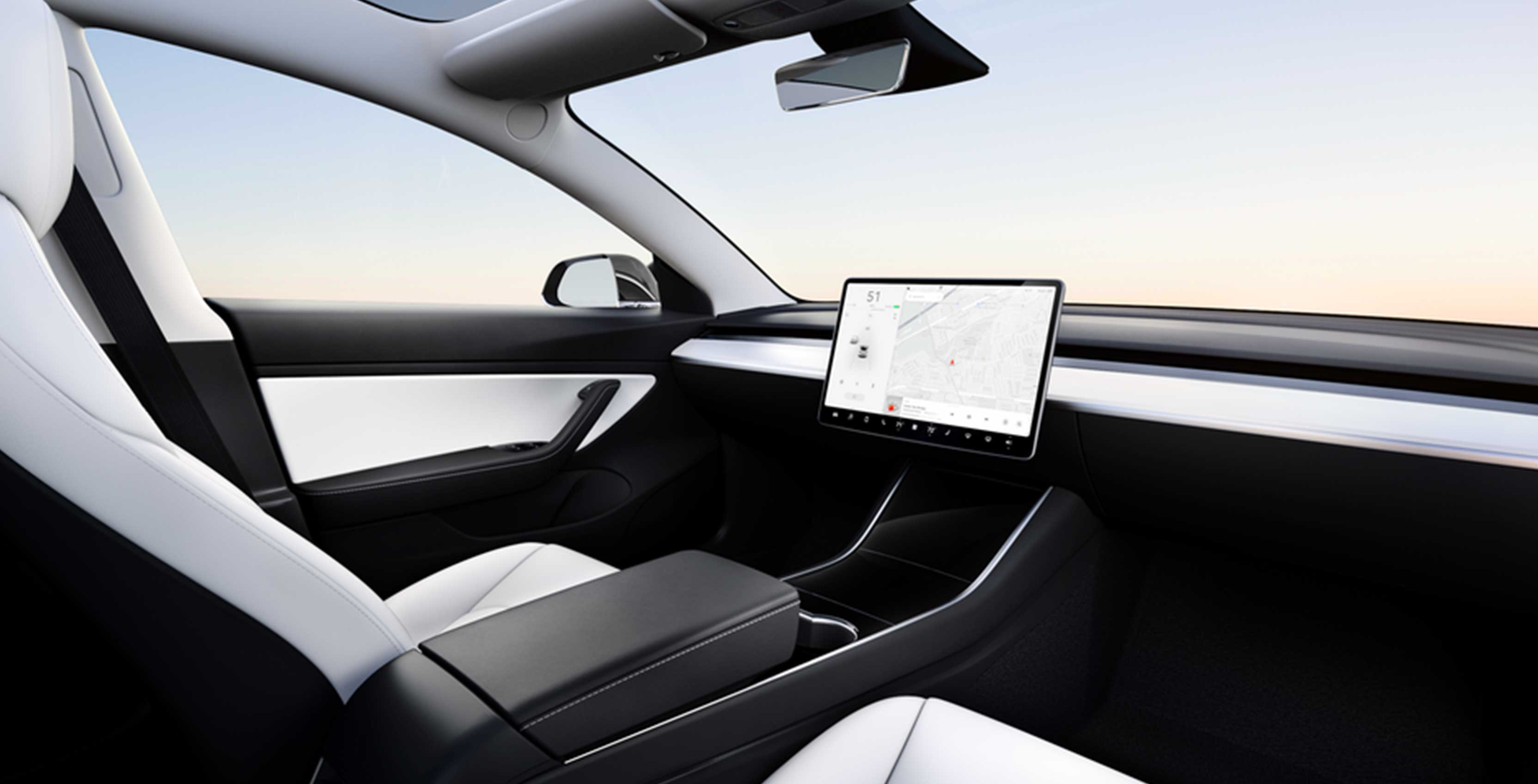 Tesla shows off car with no steering wheel
