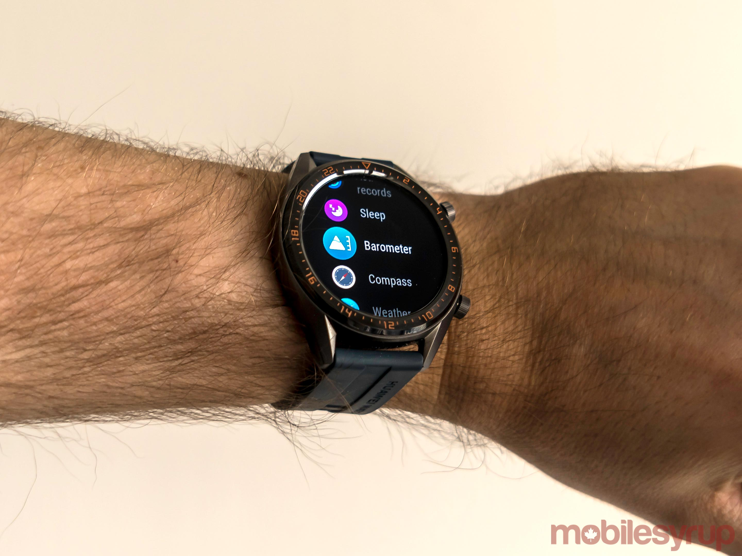 Huawei Watch GT menu