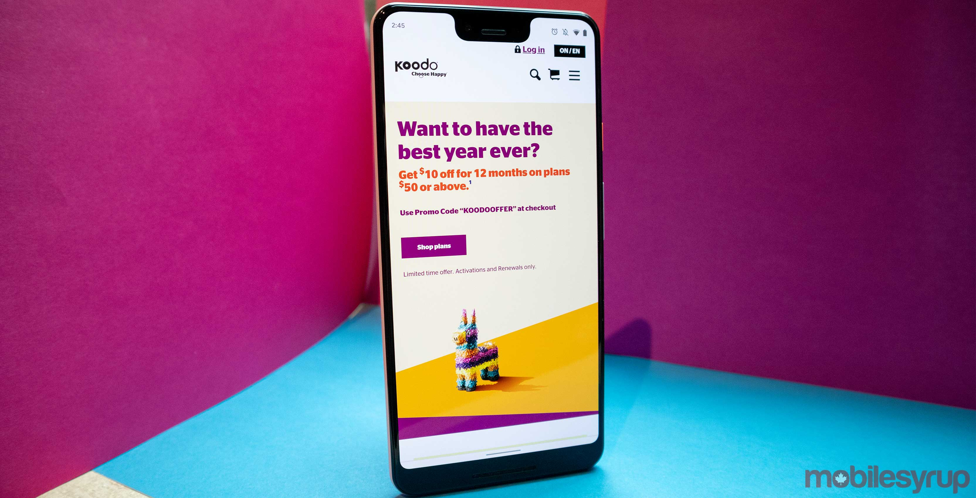 Koodo offering $10 off every plan over $50 for a year with promo code