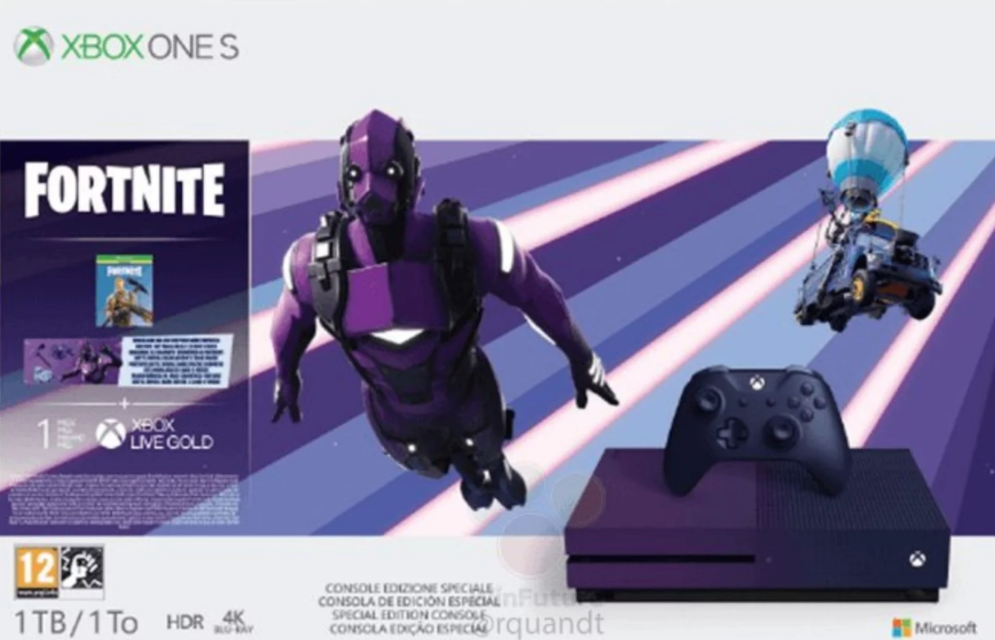 Fortnite Xbox One purple bundle