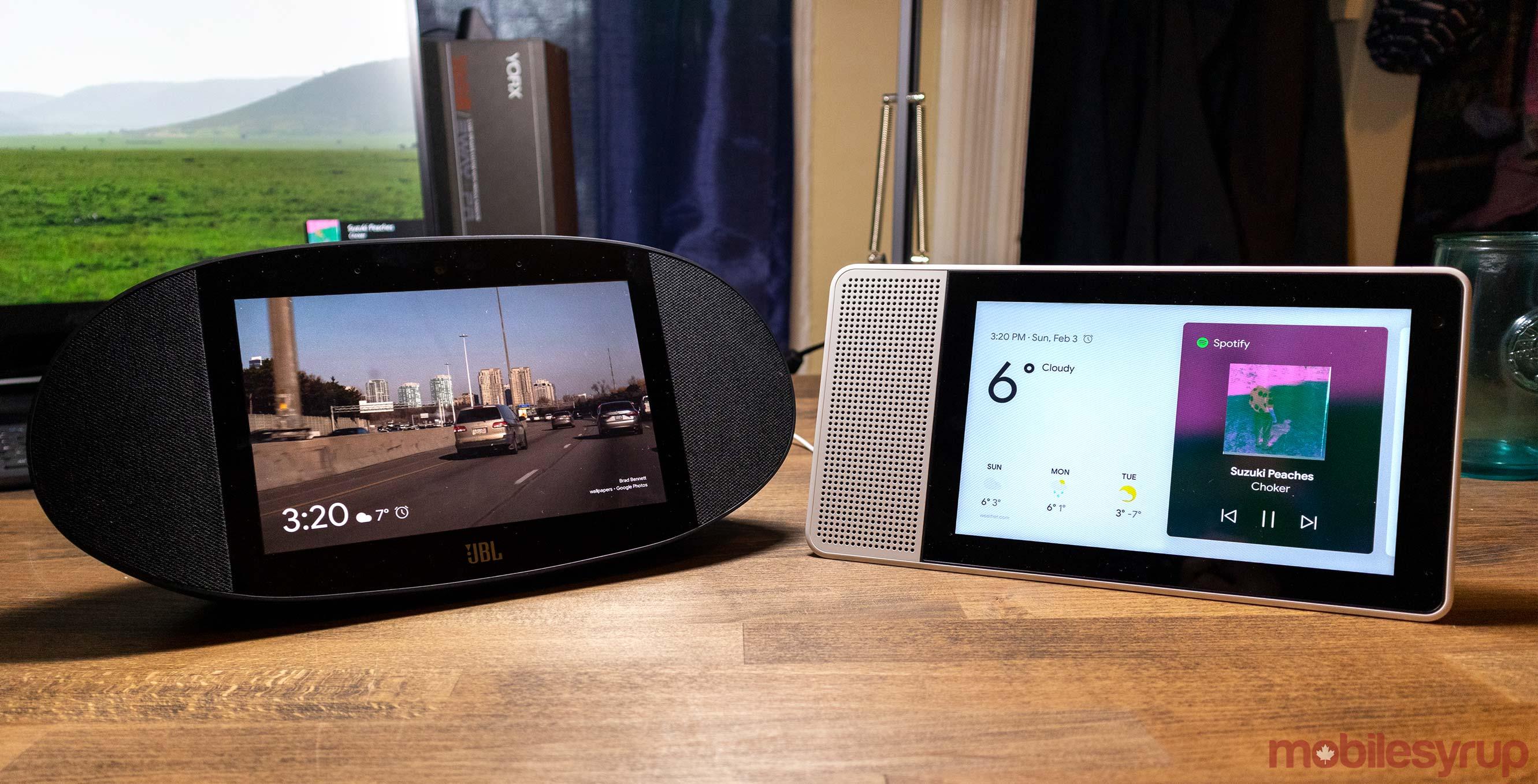 Lenovo Smart Display vs  JBL Link View
