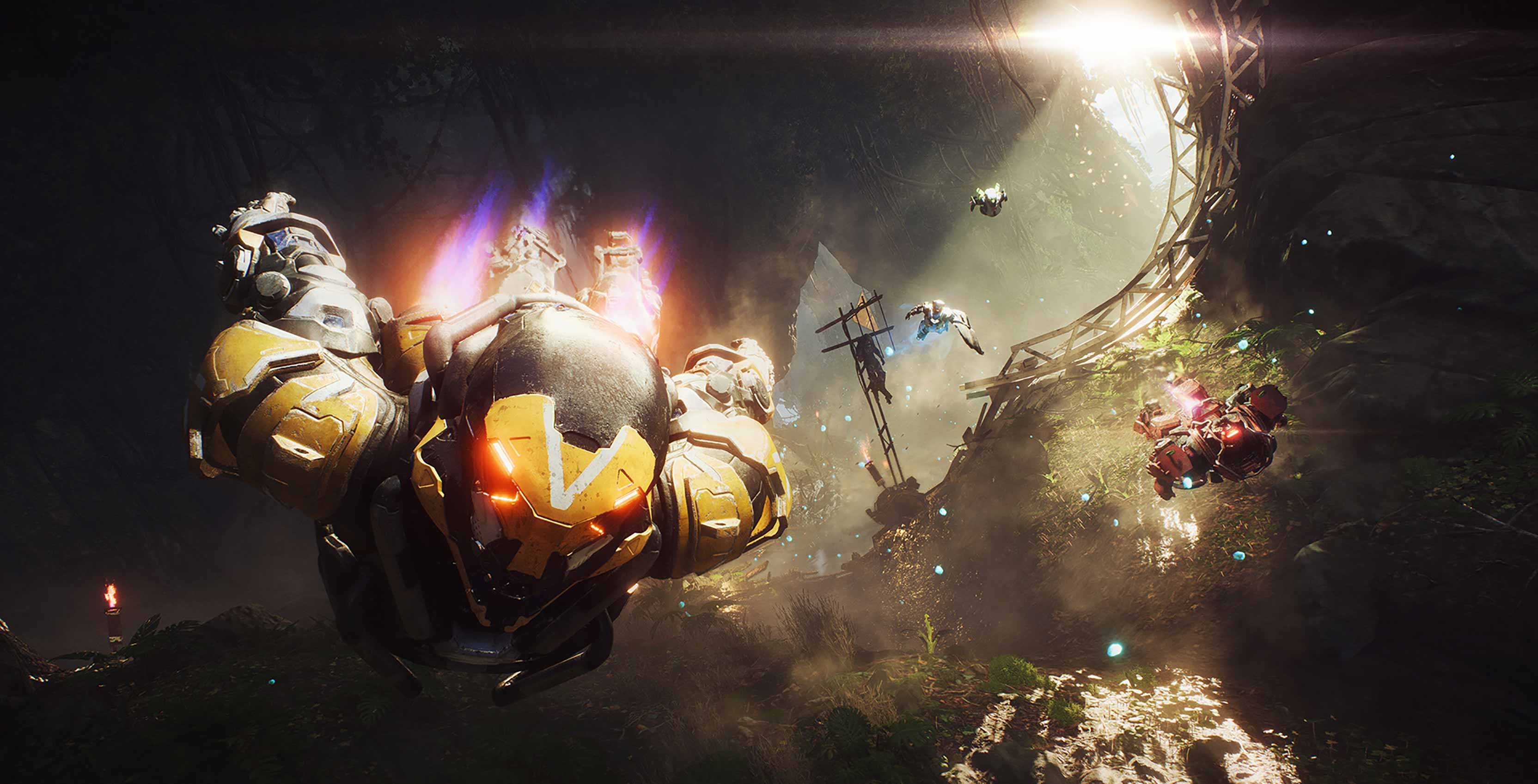 Anthem exosuits flying