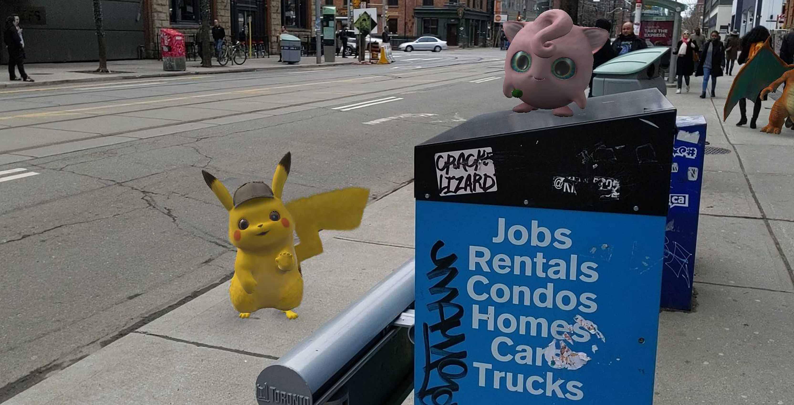 Detective Pikachu AR stickers