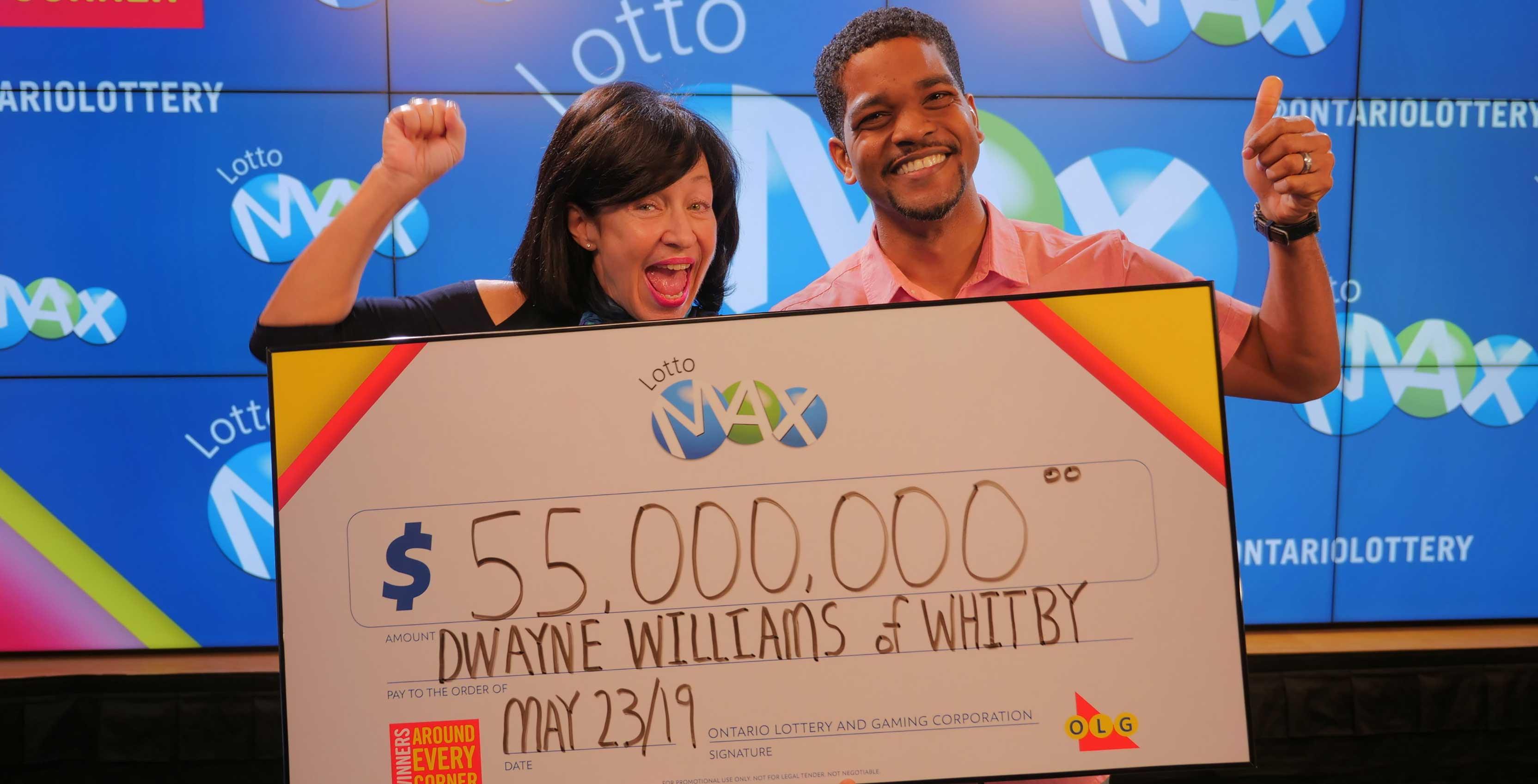 Dwayne Williams Lotto Max winner