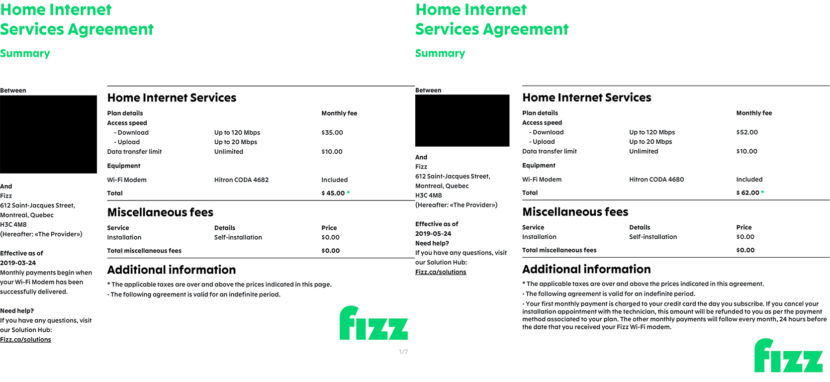 Fizz Mobile internet contract