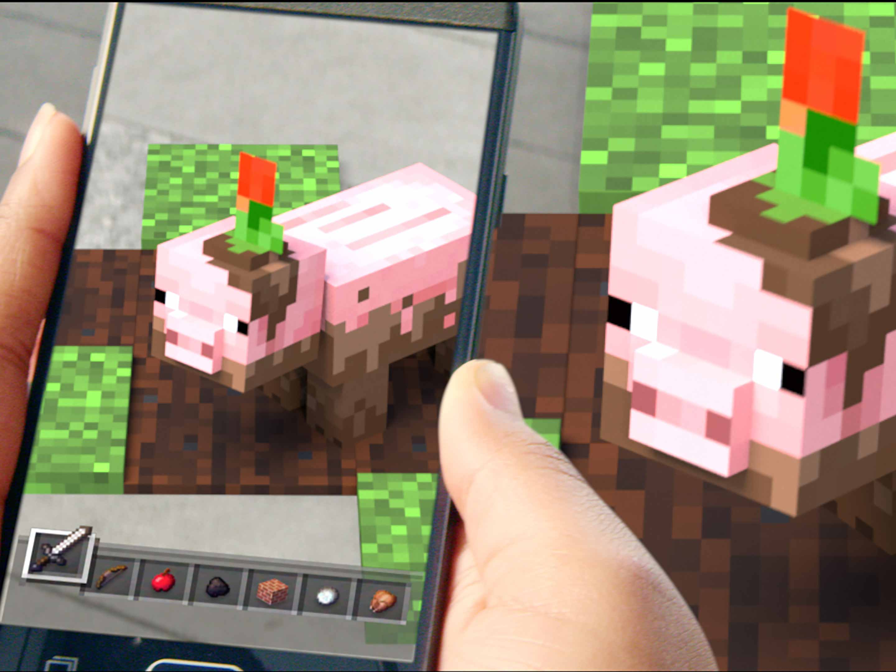 Minecraft Earth muddy pig
