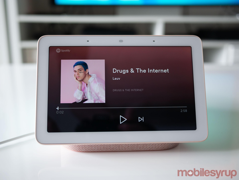 Nest Hub Spotify