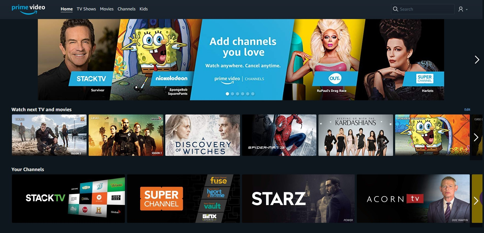 Amazon Prime Live Tv