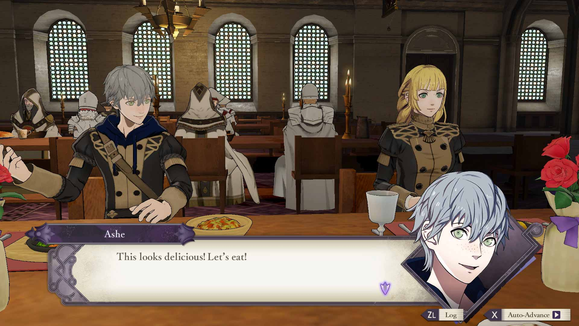 Fire Emblem: Three Houses eating