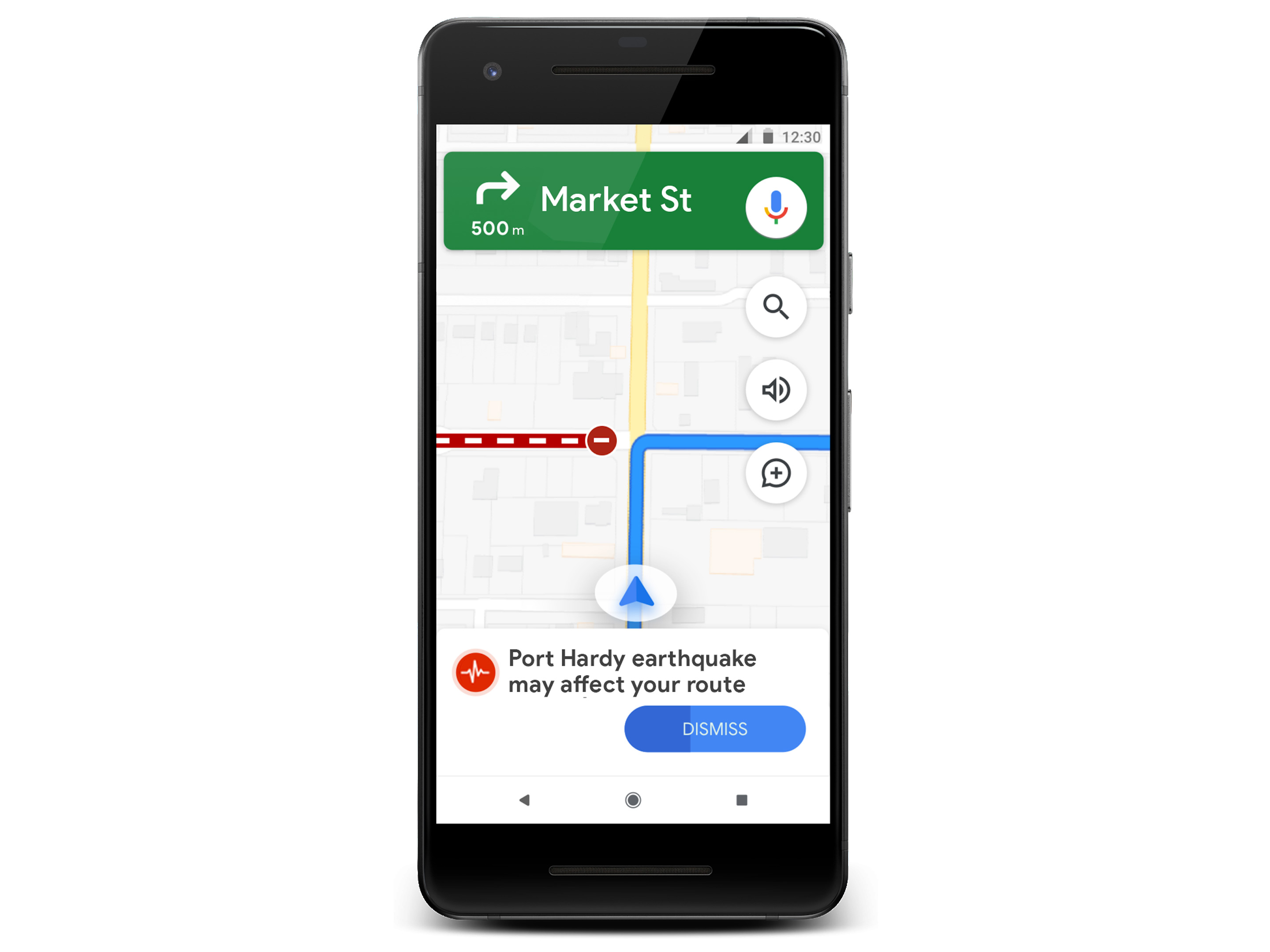 Google SOS Alert with alternate routing