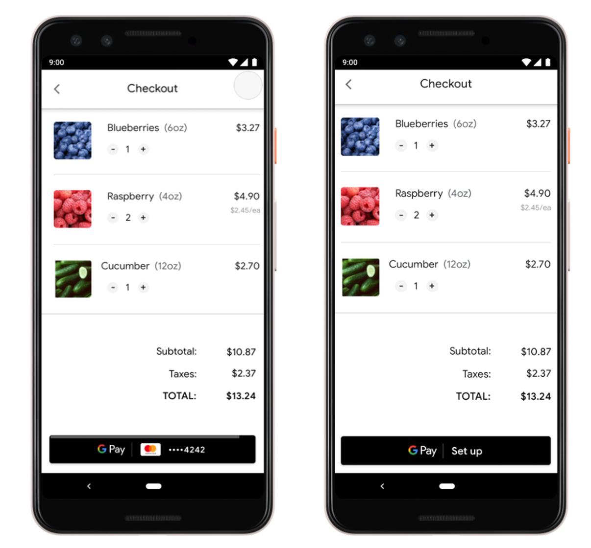 Google Pay dynamic button