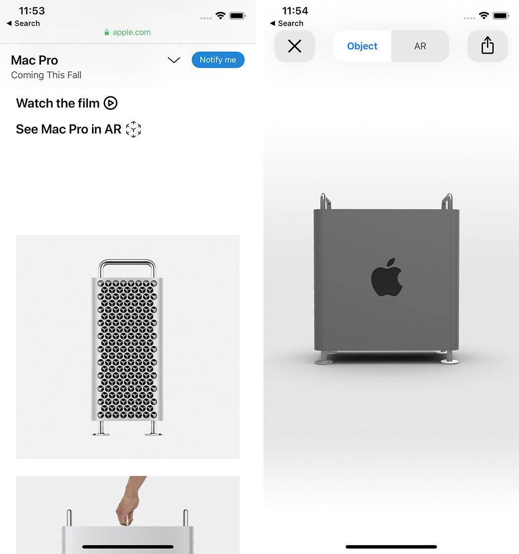 Mac Pro in AR