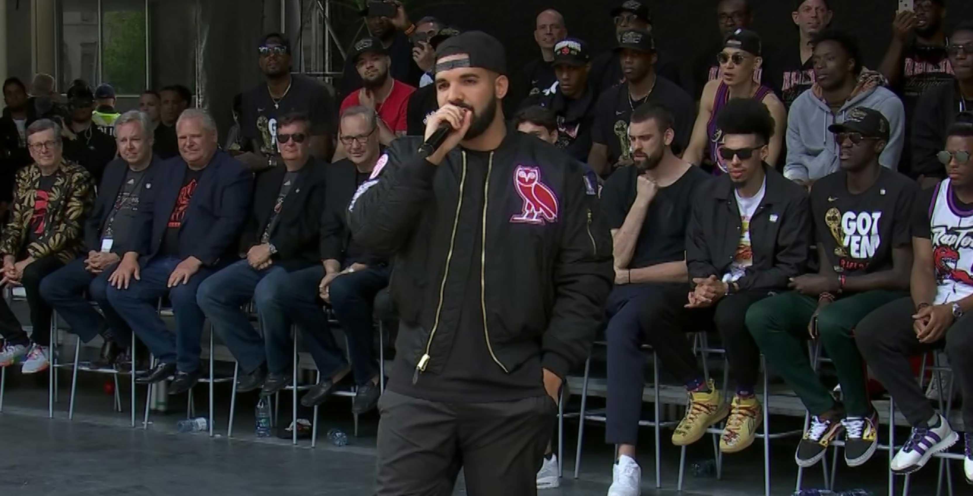 Drake Toronto Raptors parade