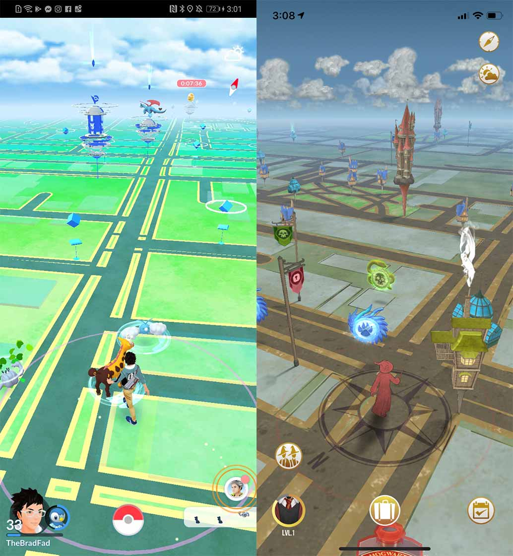 Pokémon Go vs. Harry Potter: Wizards Unite