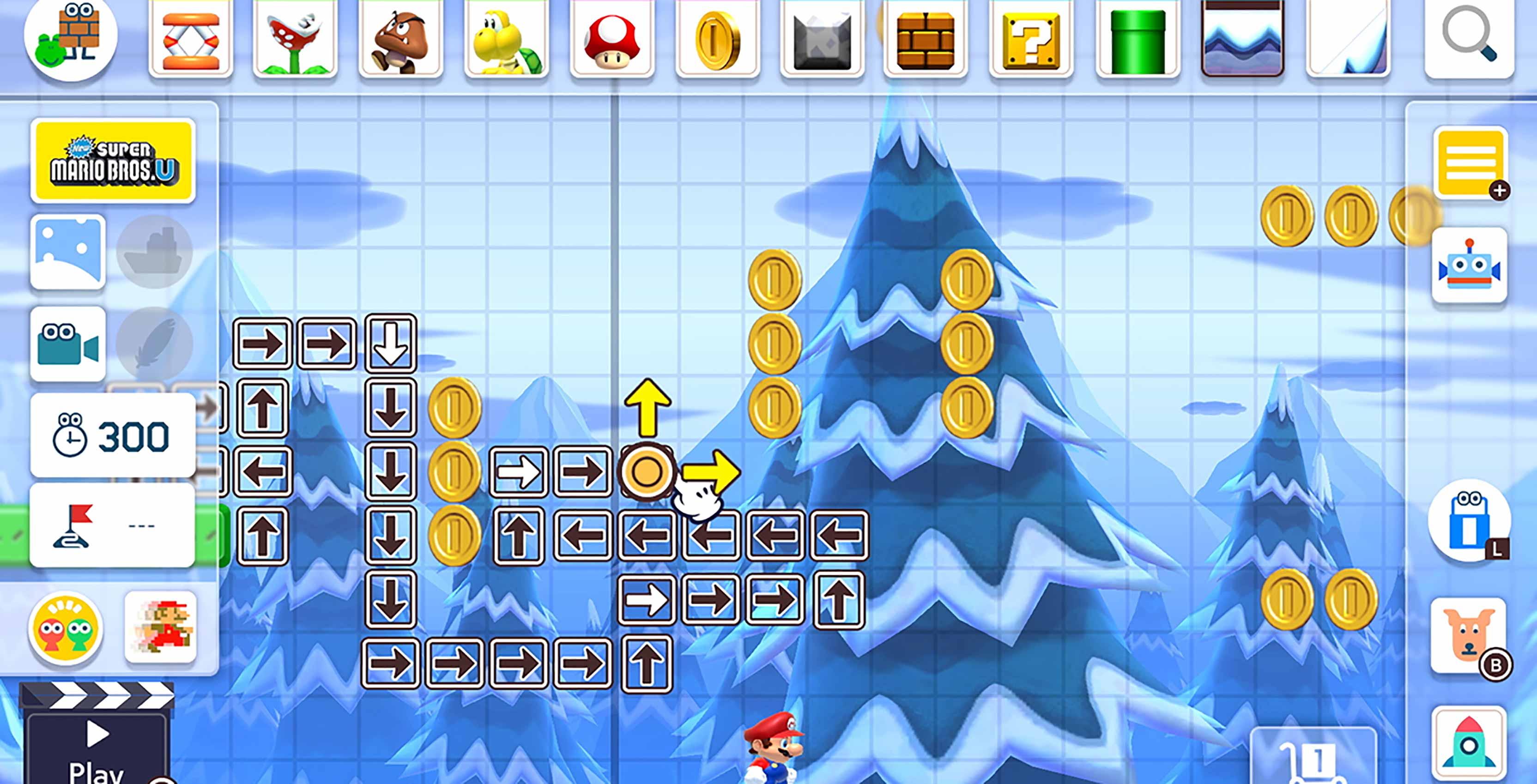 Super Mario Maker 2 creation tools