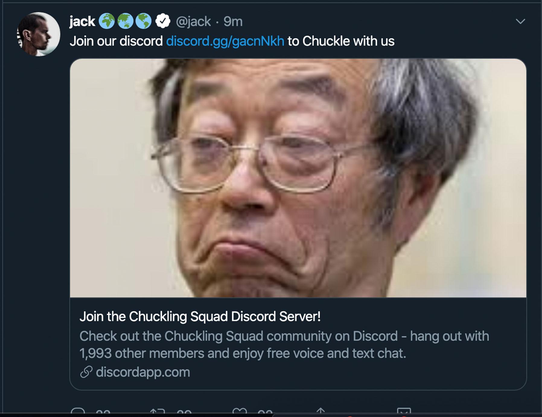Twitter CEO Jack Dorsey has been hacked