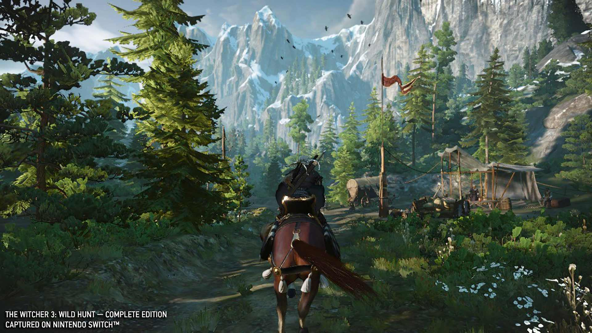 The Witcher 3 Geralt on horseback