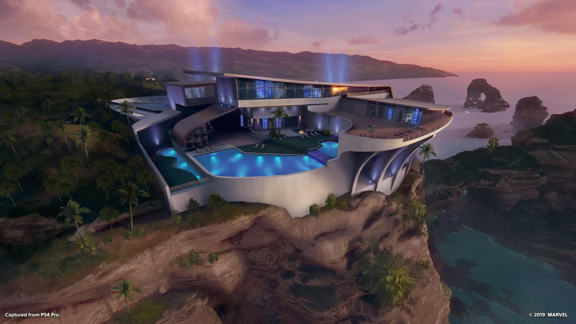 Iron Man VR Malibu house