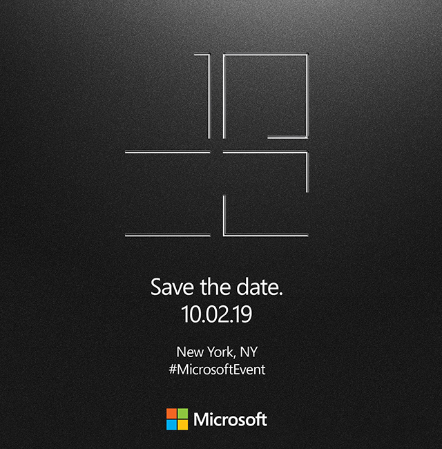 Microsoft Announces New York City Event On October 2nd