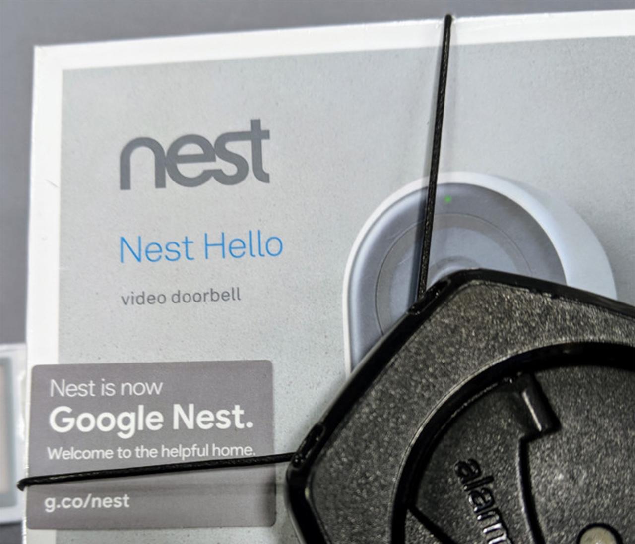 Nest Hello with Google Nest branding