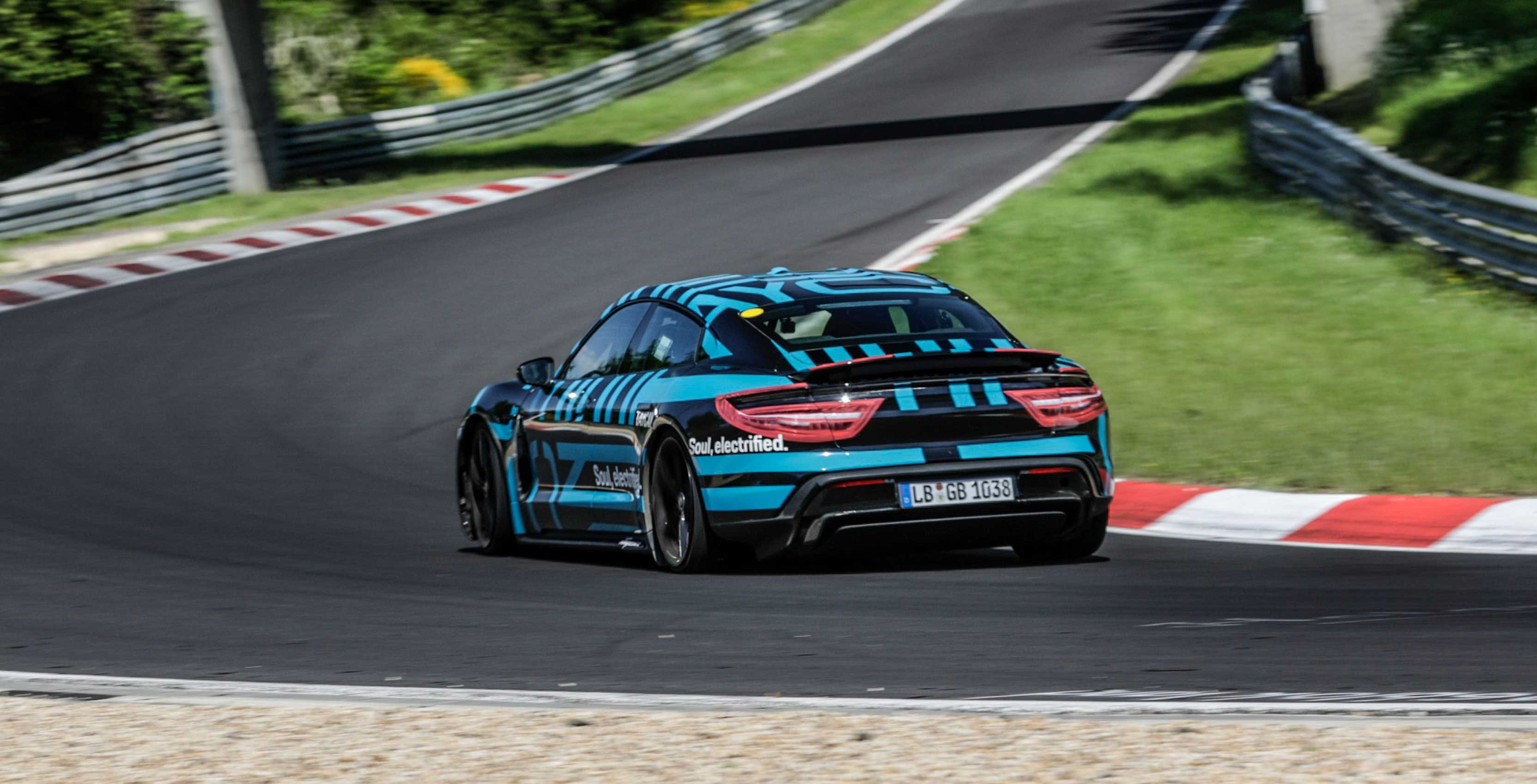 Porsche Taycan rips around Nürburgring ring in seven minutes