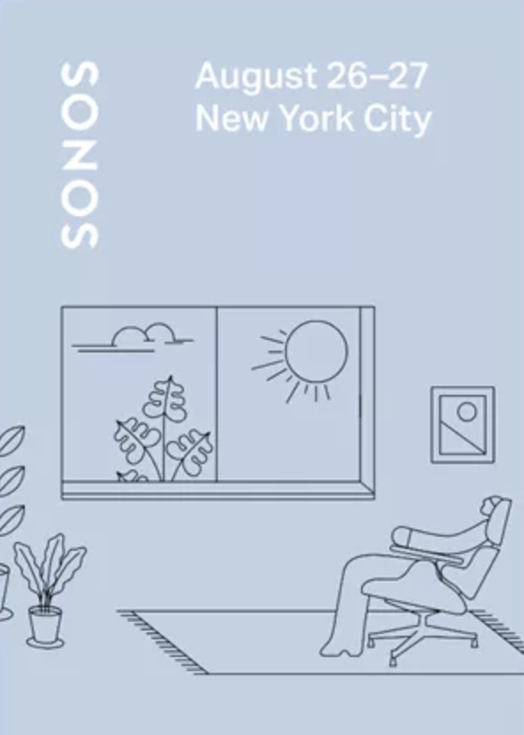 Sonos August media invite