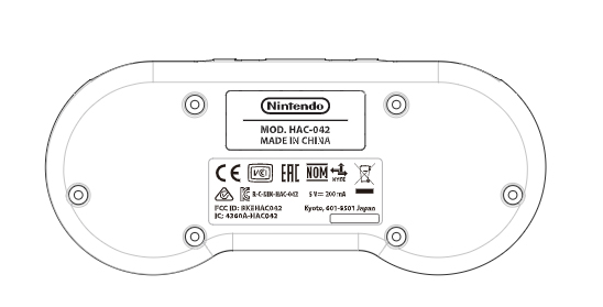 Switch SNES controller