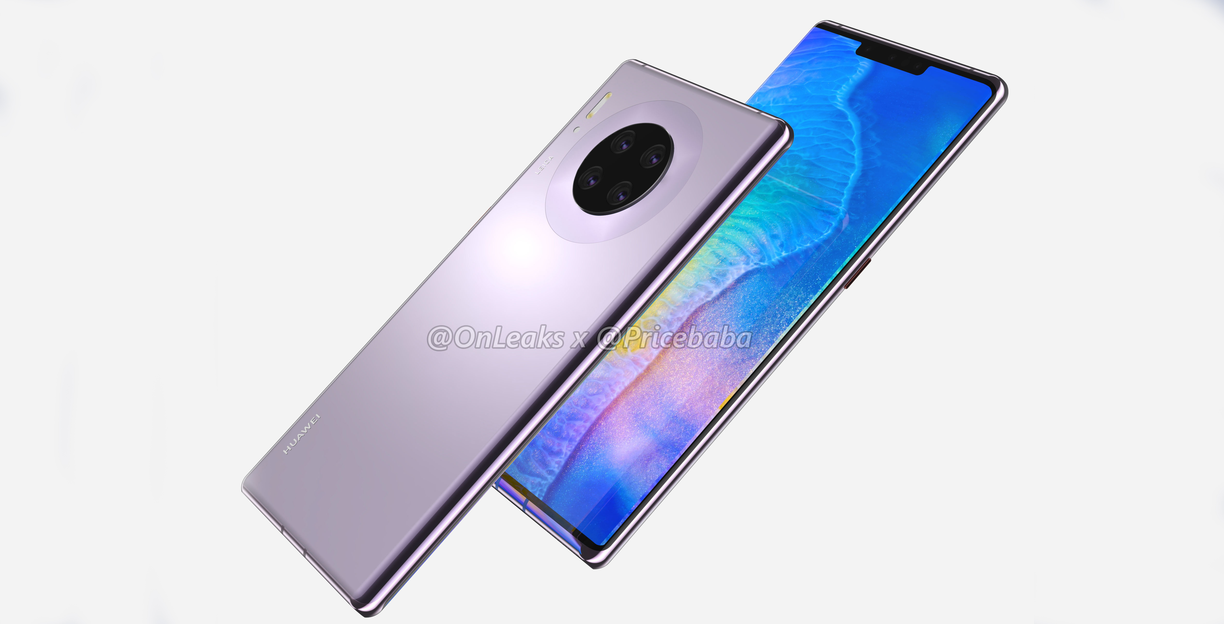 Huawei Mate 30 Pro renders suggest seven cameras, no volume