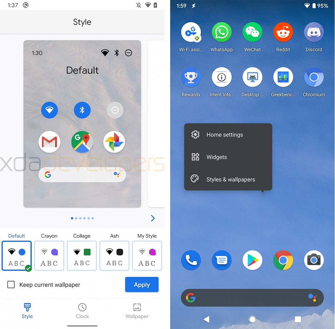 Take a look at Android 10's Google Pixel theming app