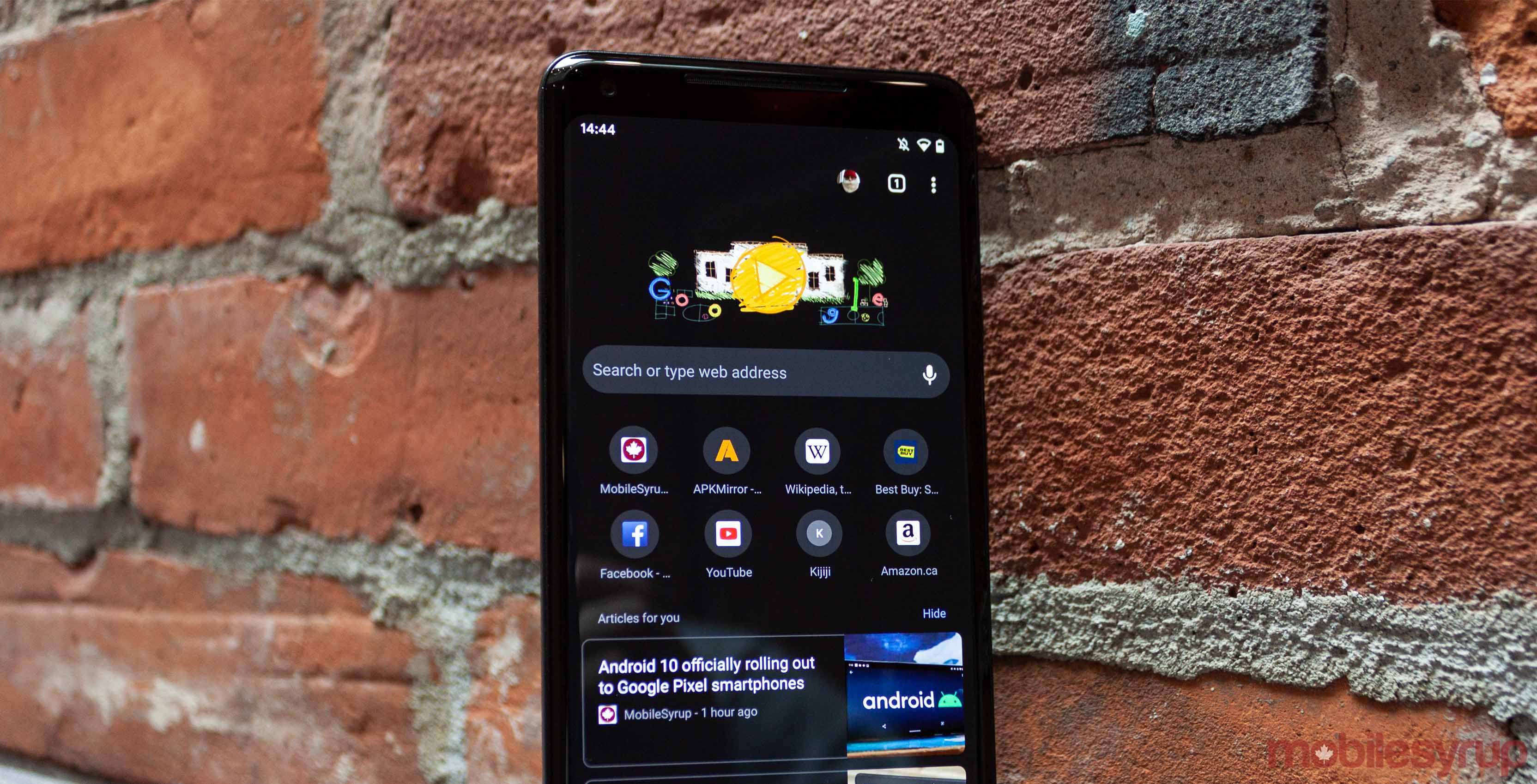 Dark Theme is now available in Google Chrome with Android 10