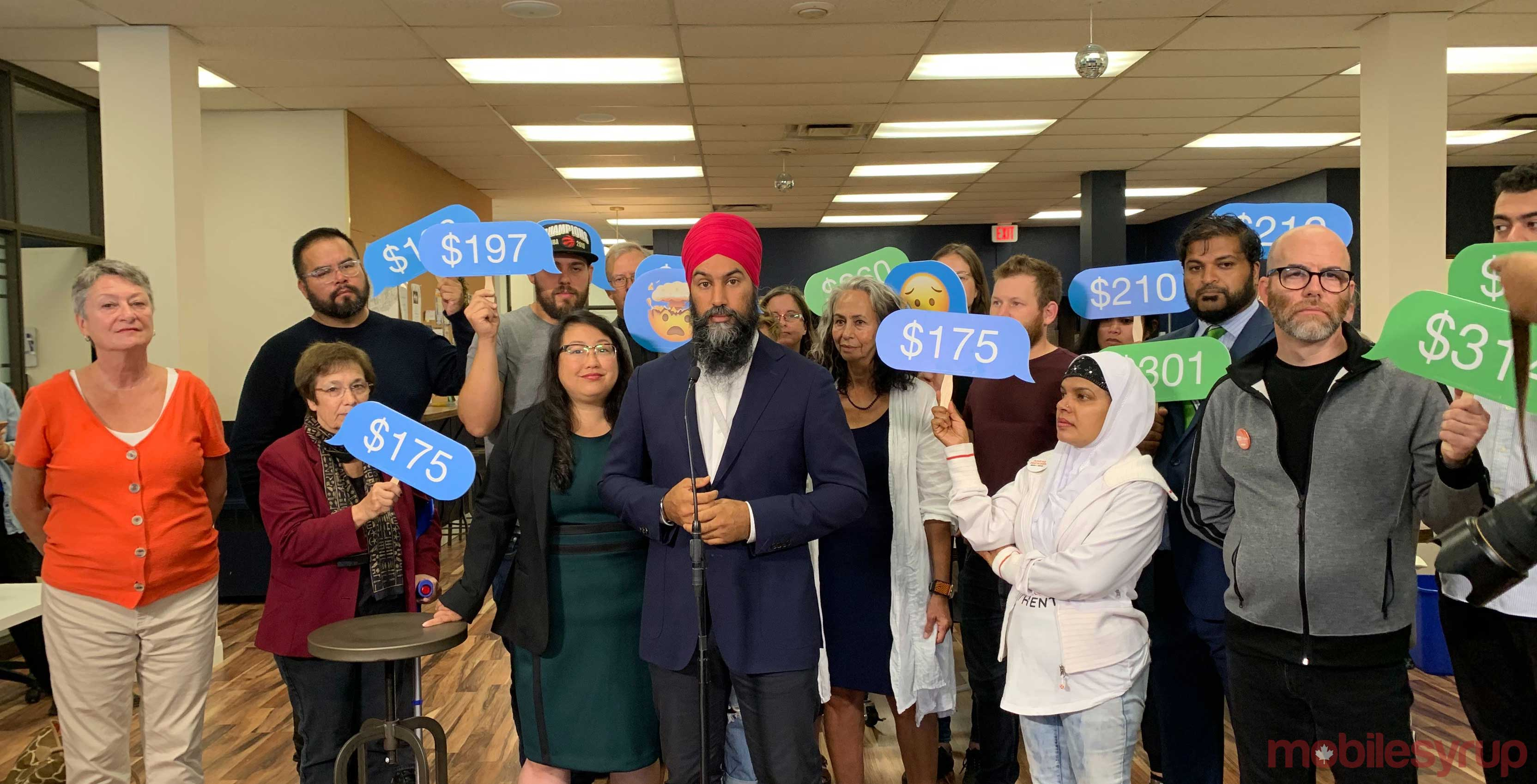 Election 2019: NDP leader Singh 'open' to allowing foreign telecom entrants in Canada