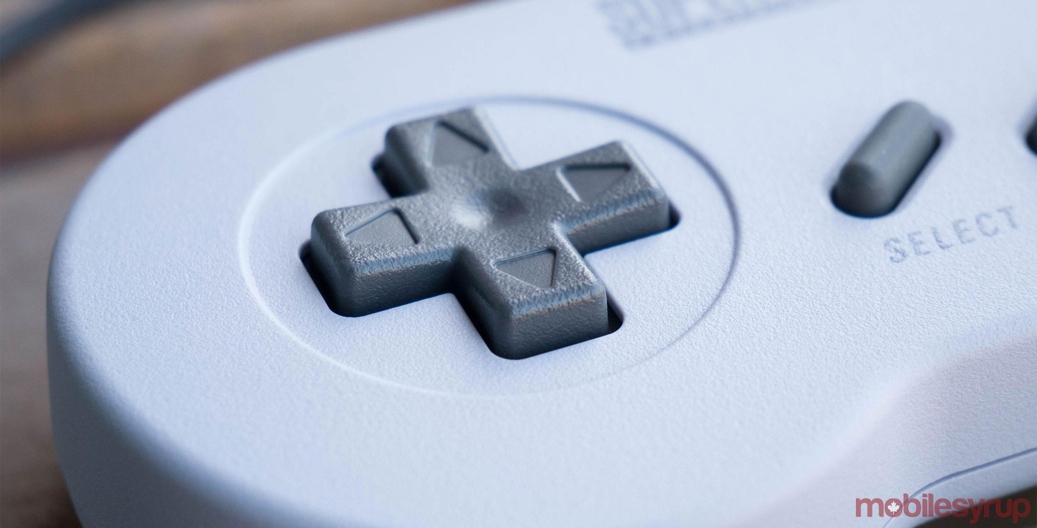 SNES classic controller close-up