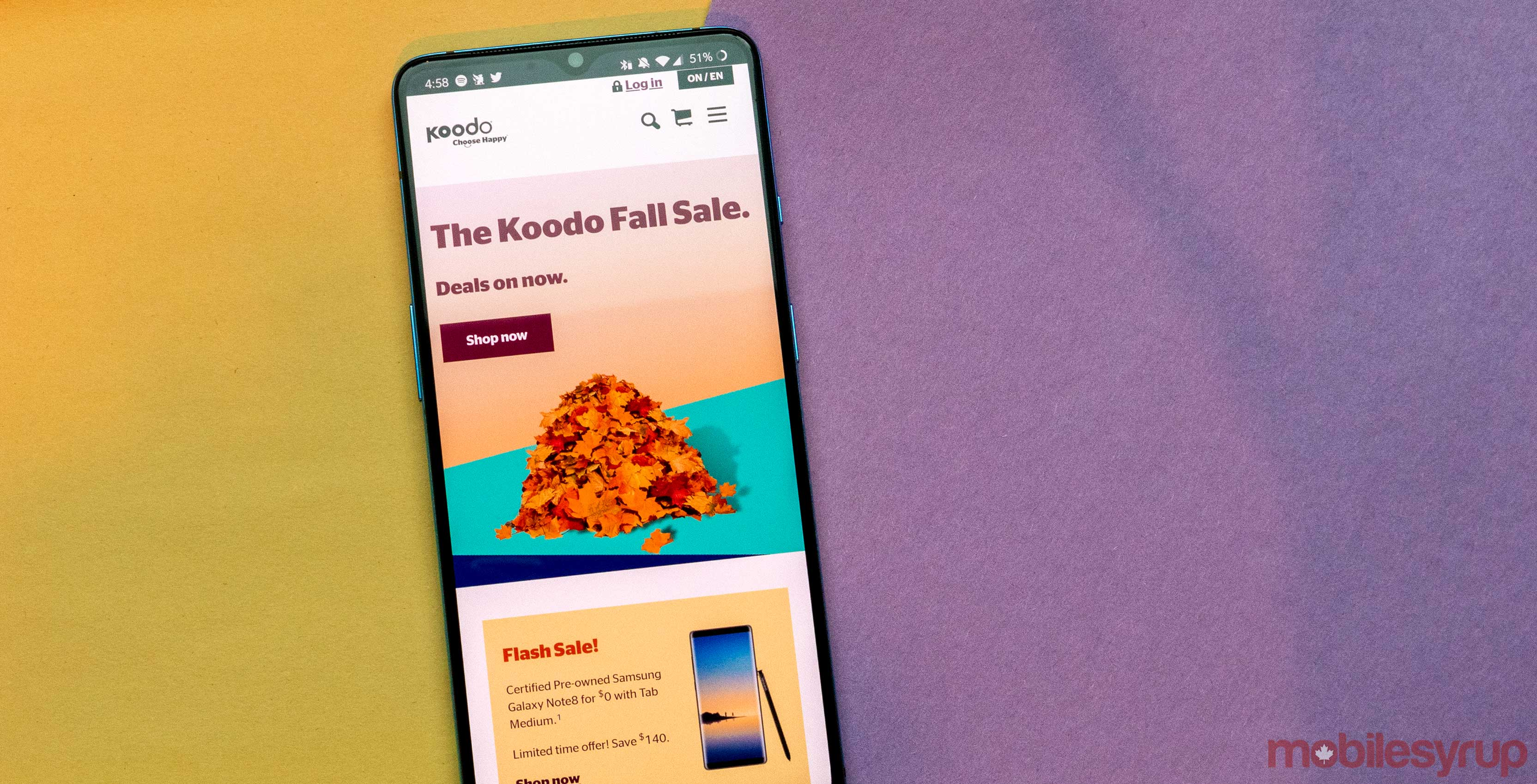 Koodo has a slate of fall promotional plans, including 7GB for $60