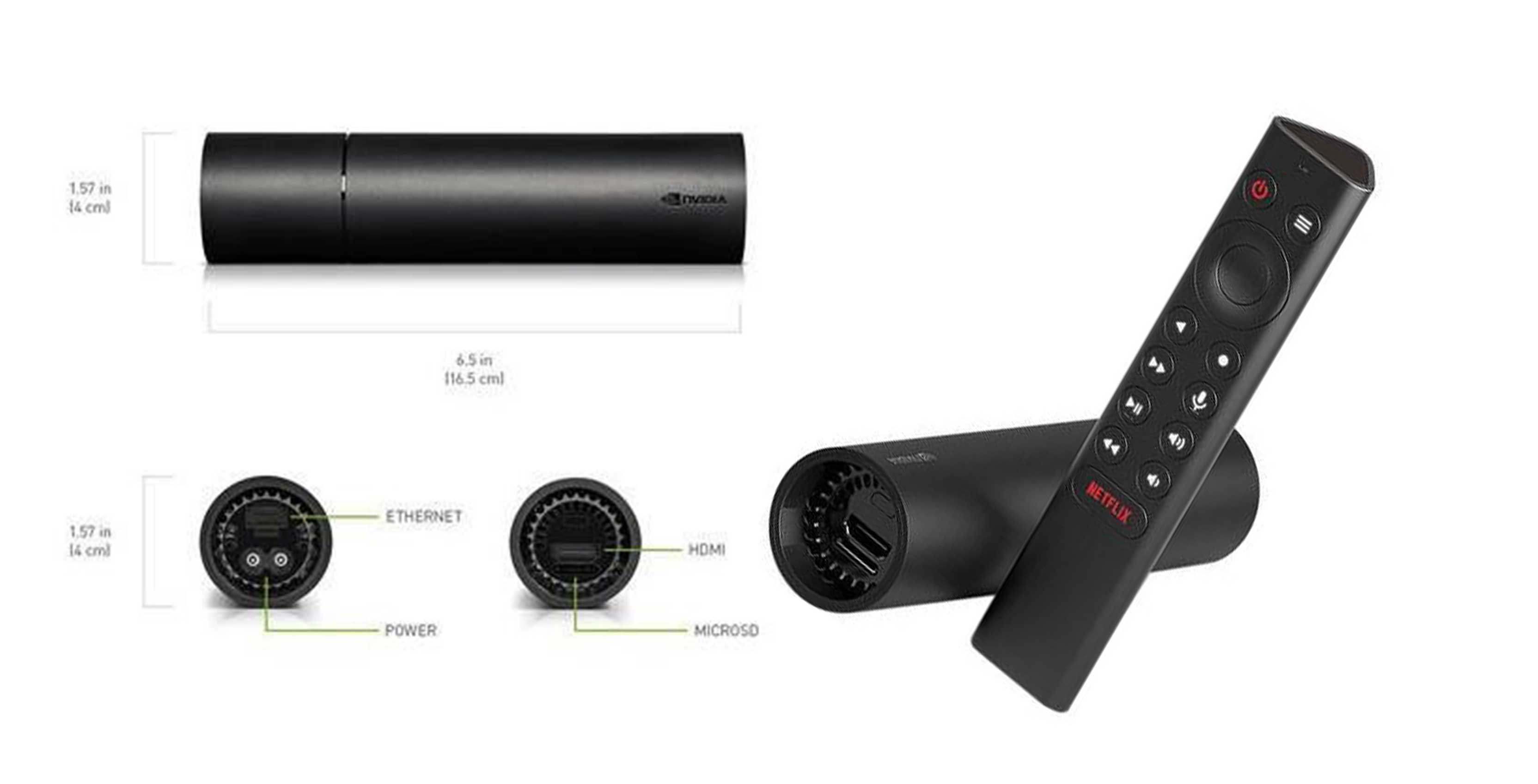 New cheaper Nvidia Android TV Stick with tubular design leaks