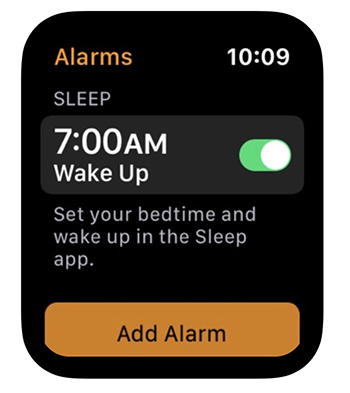 Apple Watch Sleep Alarm
