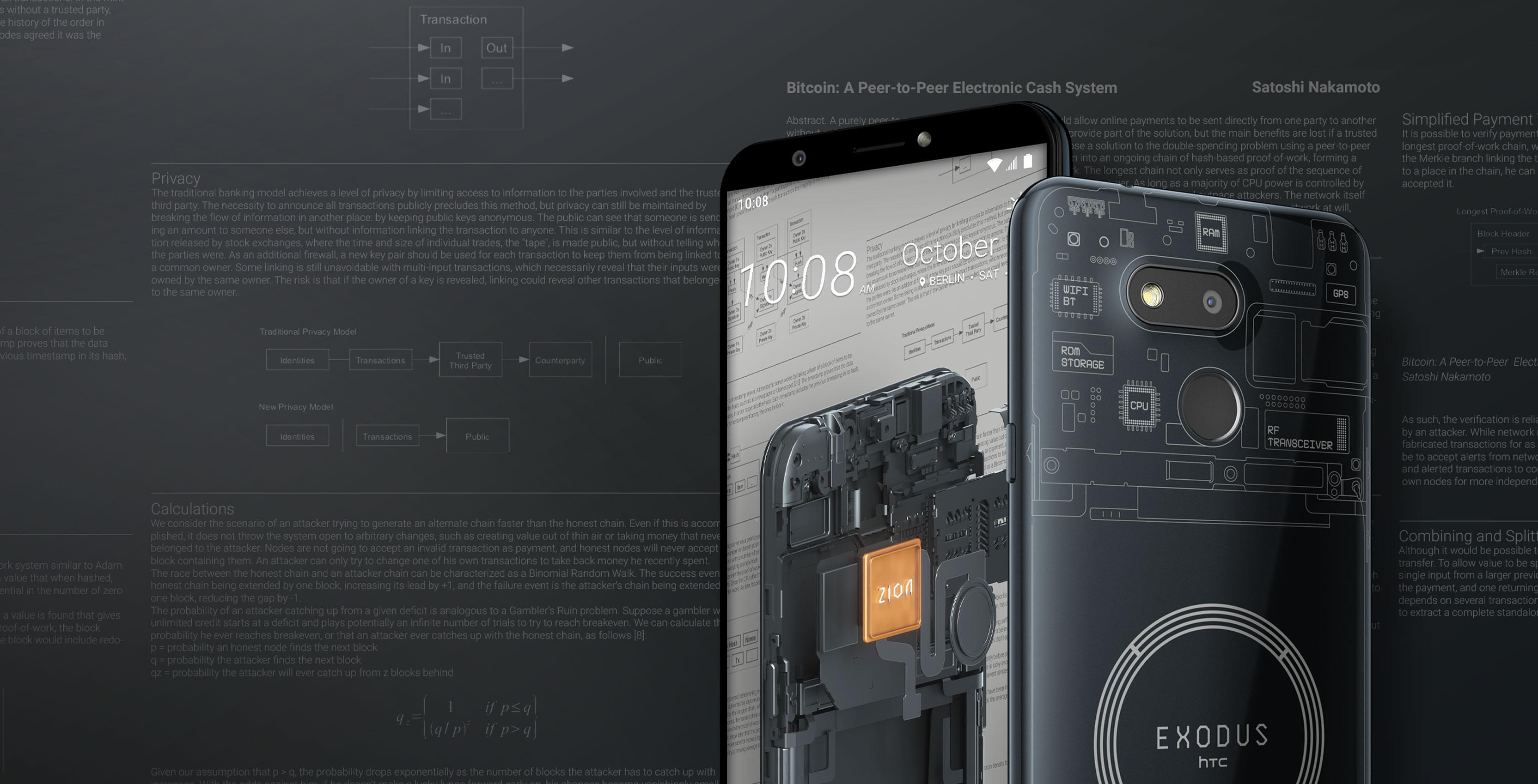 HTC announces Exodus 1s cryptocurrency smartphone