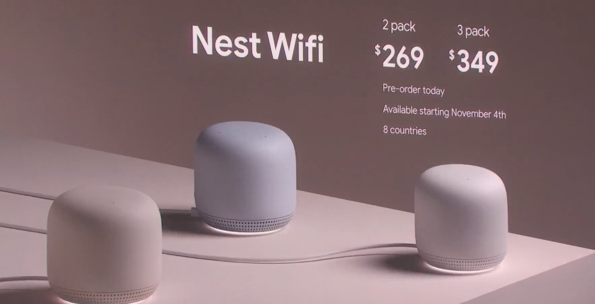 Google announces new Nest Wifi with built-in Assistant functionality