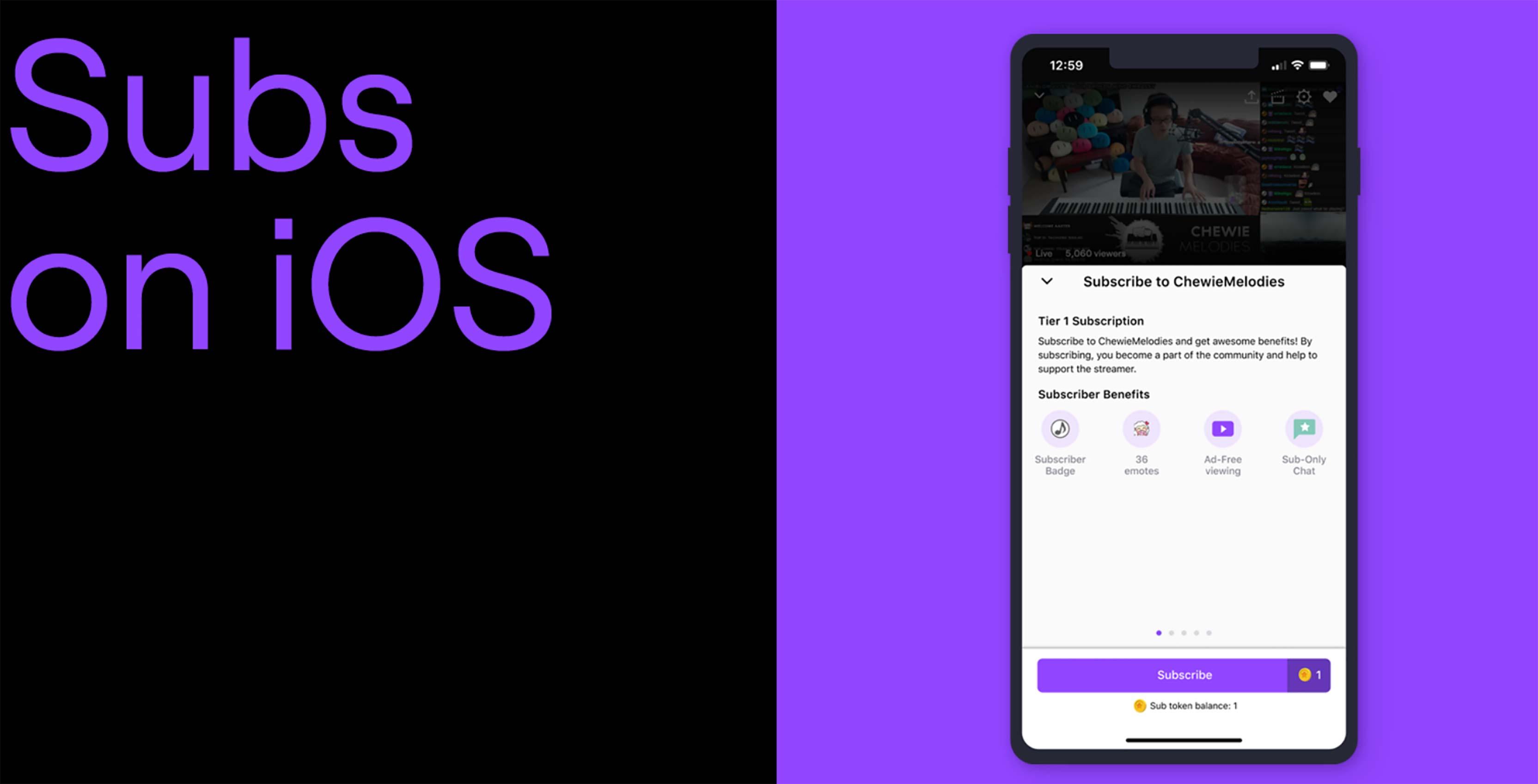 Twitch sub iOS