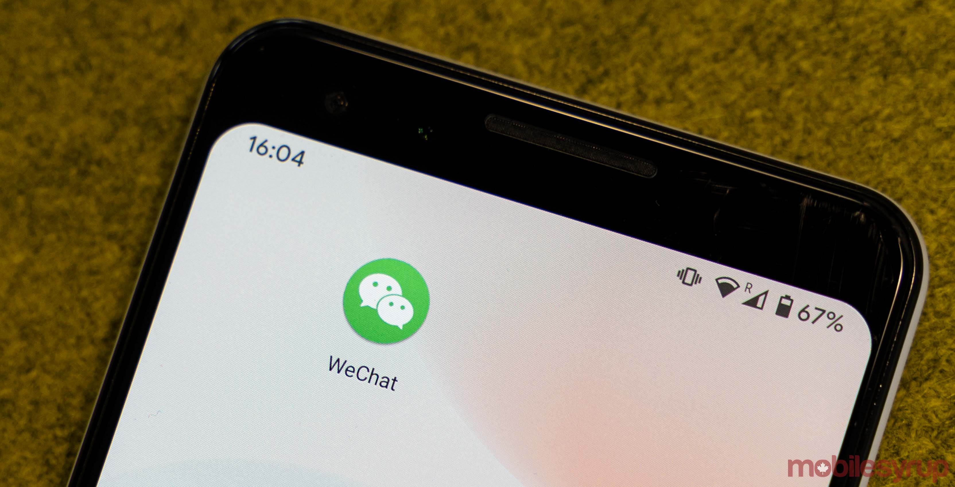 WeChat app on Android