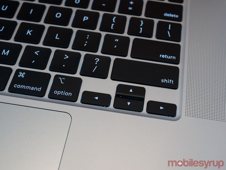 16-inch MacBook Pro arrow keys