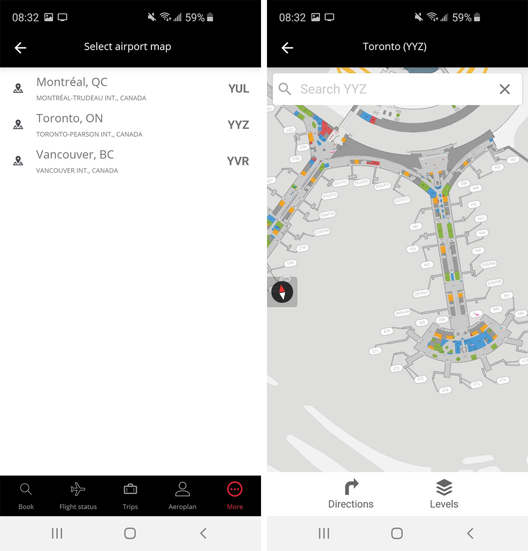 Air Canada Interactive Map Air Canada rolls out refreshed app with interactive airport maps