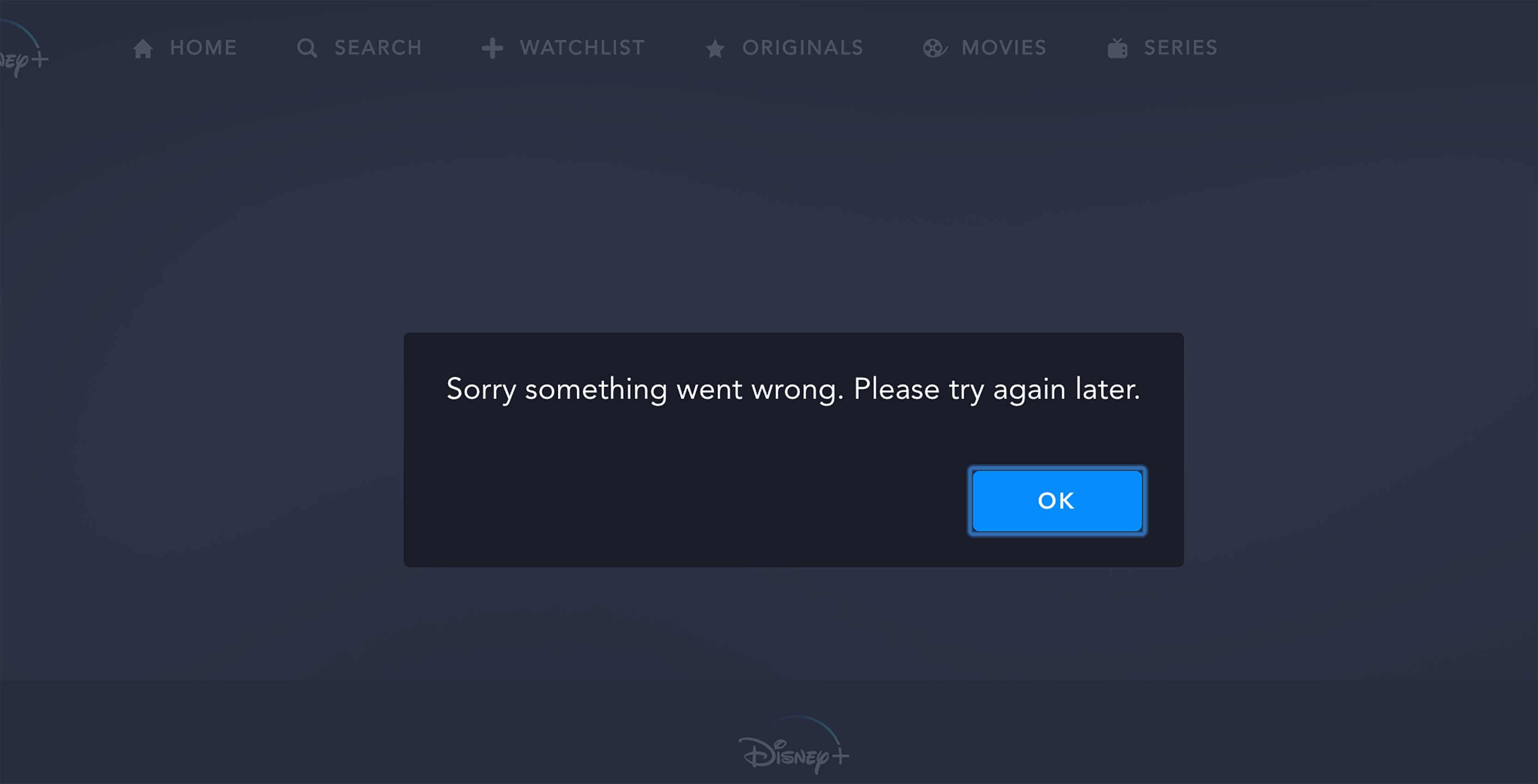 Disney+ error