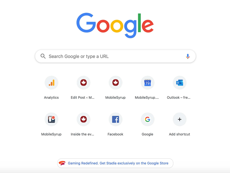 Google Chrome Stadia