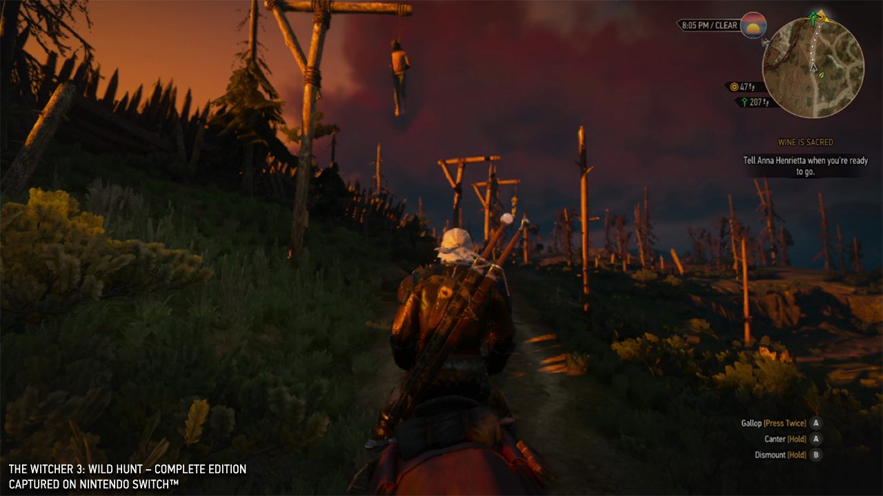 The Witcher 3 Switch horseback
