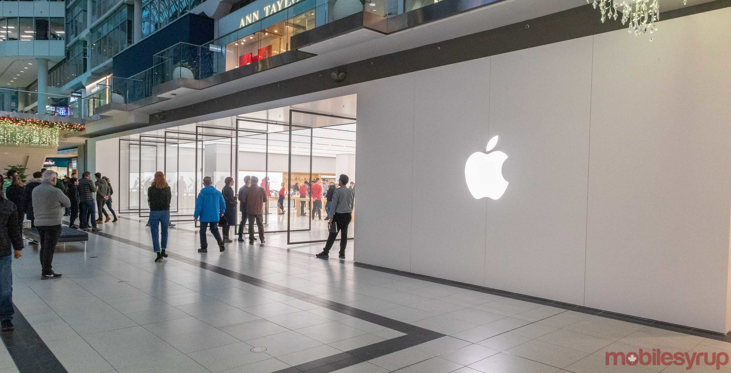 Apple opens new store in Toronto's Eaton Centre mall
