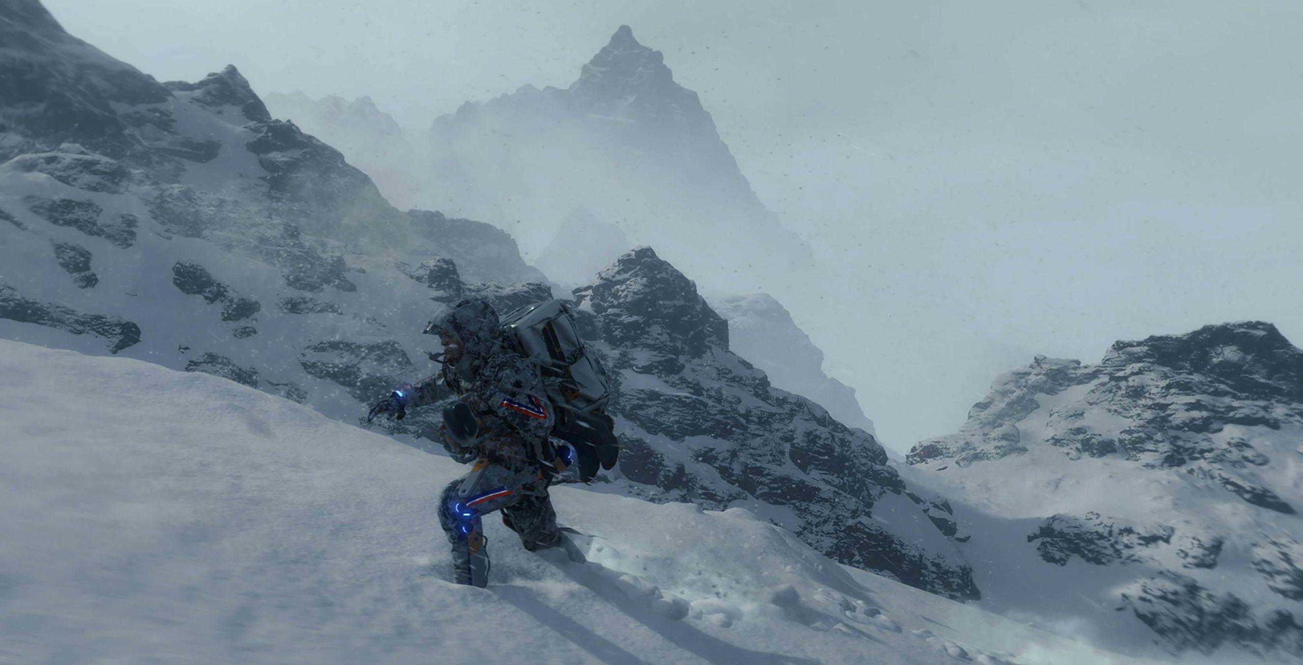 Death Stranding snow