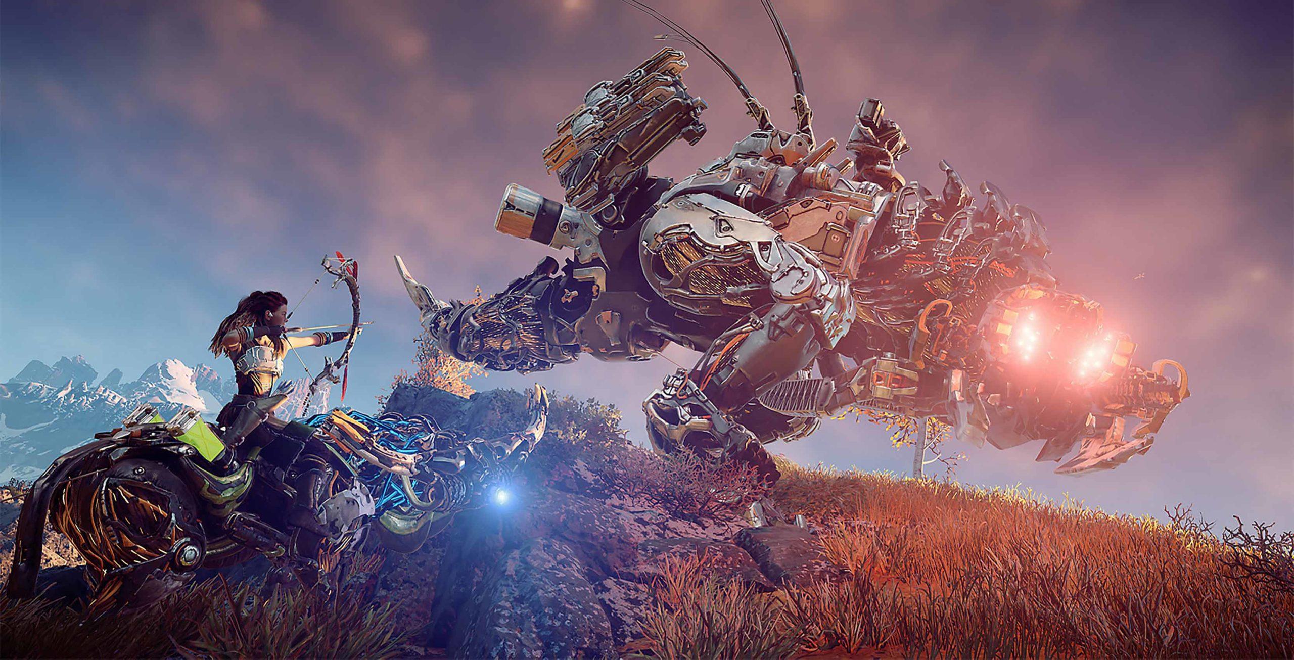 Horizon: Zero Dawn Aloy vs. robot
